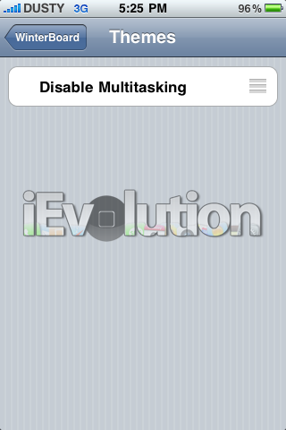 Disable Multitasking